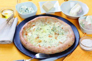 Pizza quattro stagioni ai formaggi: con lievito madre