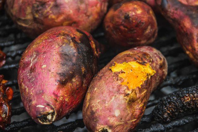 patate dolci alla brace