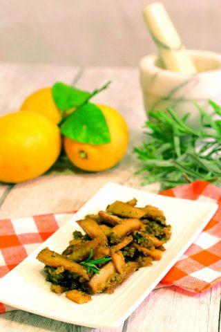 Straccetti di seitan al limone: croccanti e saporiti