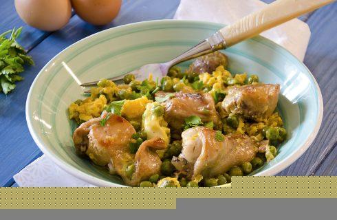 Coniglio in umido con uova e piselli: la nostra ricetta
