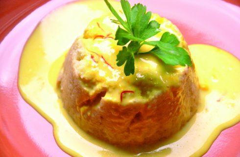 Flan di cavolfiore allo zafferano al bimby, un elegante piatto vegetariano