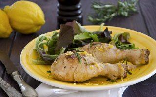 Fusi di pollo al limone, un secondo piatto scenografico