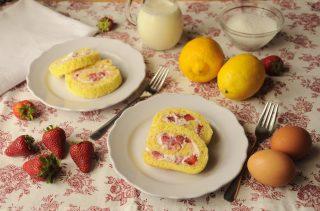 Girelle dolci panna e fragole al bimby, un dolce elegante e goloso