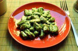 Gnocchi agli spinaci con fonduta di fontina: primo piatto con il bimby