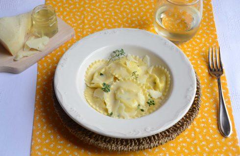 Ravioli ripieni di miele e pecorino: l'autunno in tavola con il bimby