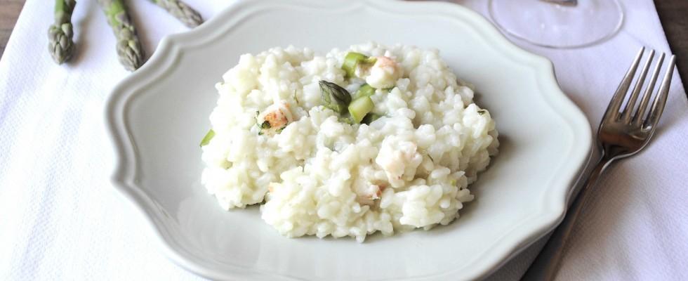Bimby: ecco il risotto agli asparagi con scampi