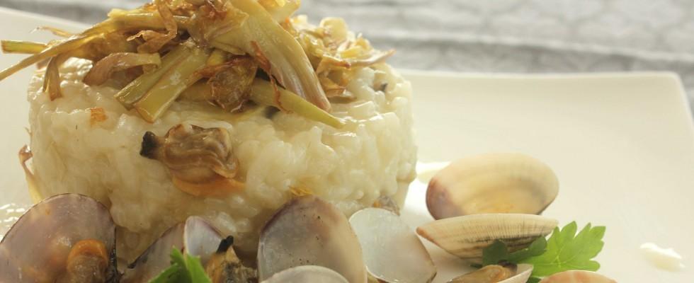Bimby: ecco il risotto alle vongole con carciofi