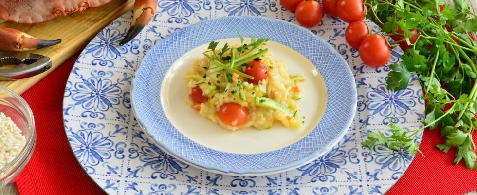 Risotto con zucchine e granchio: più facile con il bimby