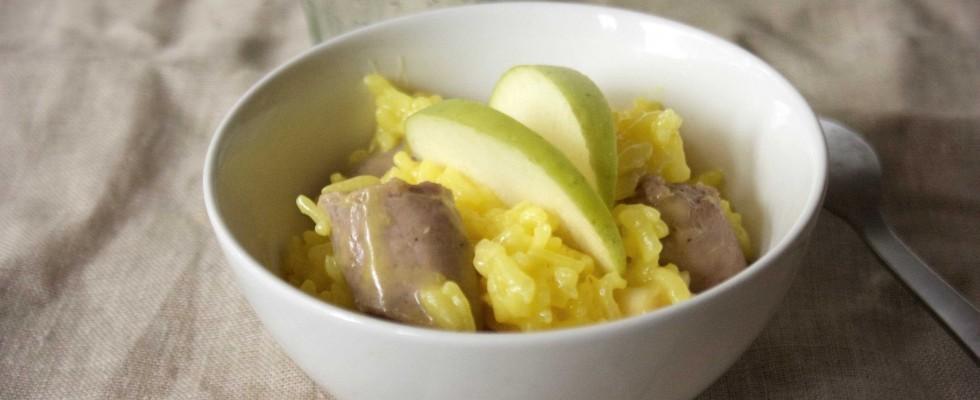Risotto giallo con salsiccia: la ricetta da fare con il bimby