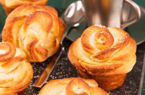 Roselline di pan brioche sono facili da fare con il bimby