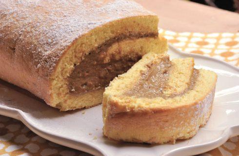 Rotolo di pasta biscotto con crema al caffè al bimby