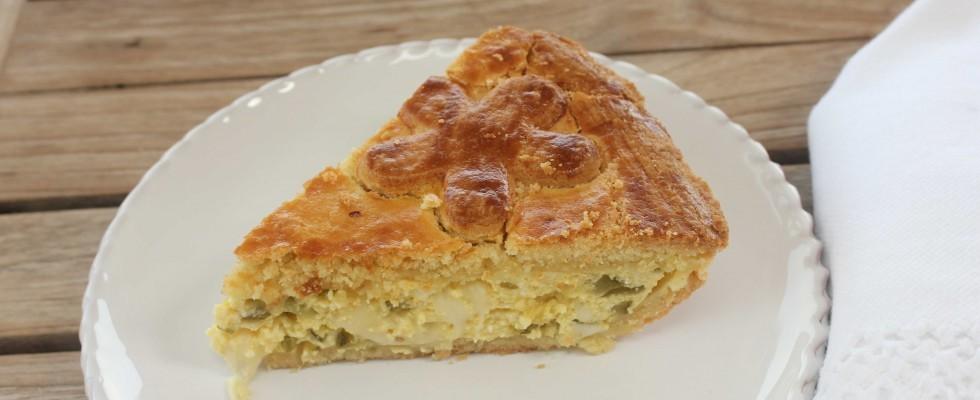 Torta rustica al formaggio e zucchine, fatta con il bimby