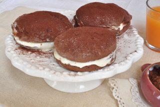 Scones al cacao con crema bianca da fare con il bimby
