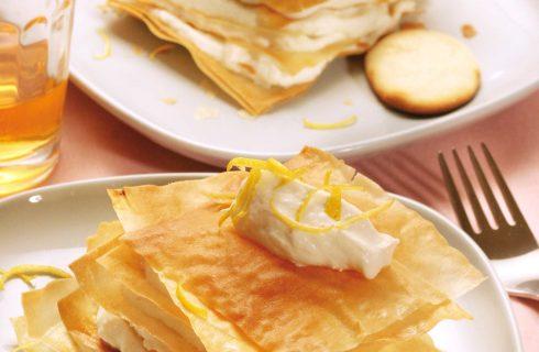 Sfogliatine con crema di ricotta e limone: al bimby