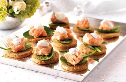 Tartine al salmone sono semplici con il bimby