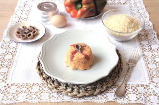 Bimby: ecco i mini timballi di riso peperoni e acciughe