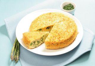 Torta salata di patate con piselli e asparagi: con il bimby