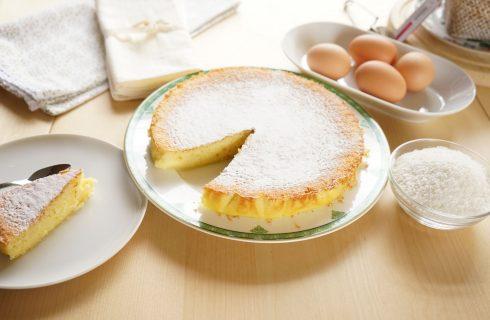 Torta morbida al cocco: con il bimby