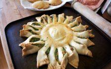 La torta girasole di spinaci e ricotta con la ricetta sfiziosa