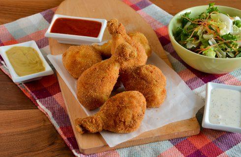 Cosce di pollo fritte, secondo di carne