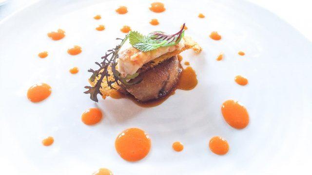 foie-gras-scampo-arrosto-e-riduzione-di-carota-e-zenzero-1
