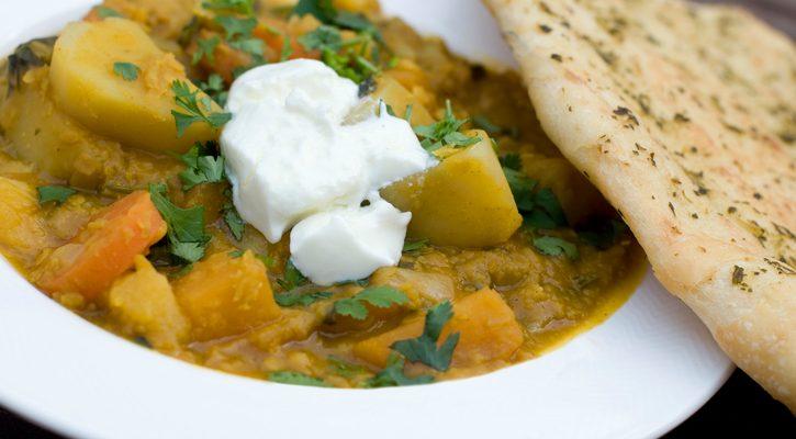 La ricetta del curry di verdure con yogurt