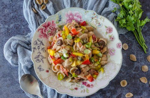 Orecchiette integrali crema di tonno e olive, primo veloce