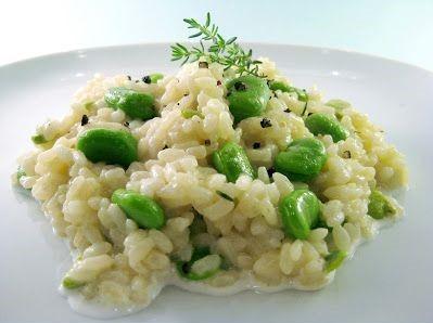 Il risotto con fave e pecorino con la ricetta facile