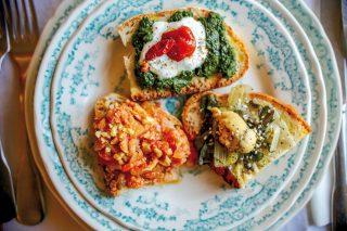 Bruschette, 3 varianti vegetariane