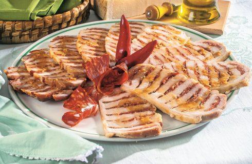 Arrosto di maiale con salame e grana, secondo piatto al forno