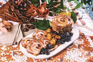 Arrosto di maiale ripieno di frutta e spezie, un secondo piatto coi sapori d'autunno