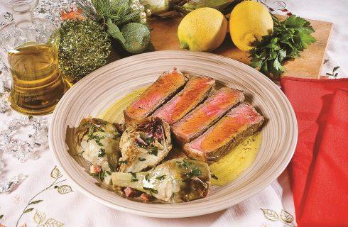 Braciola speziata con carciofi, secondo piatto d'effetto