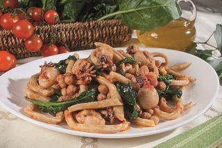 Biche con seppioline, ceci e spinaci: un primo dalla Tuscia