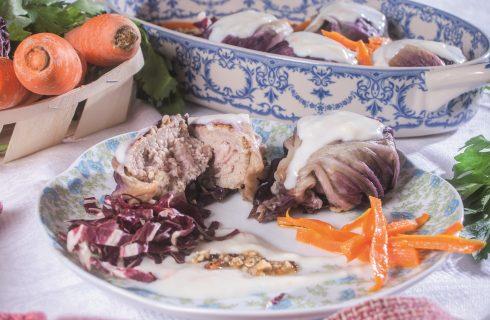 Bocconcini di carne e radicchio, un morbido secondo piatto