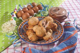 Bomboloni di patate con mortadella e formaggio, un croccante appetizer