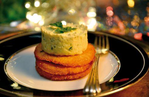 Brandade di baccalà con cialde di ceci, un secondo piatto francese