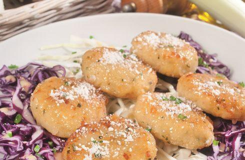 Canederli schiacciati al formaggio grigio, primo piatto altoatesino