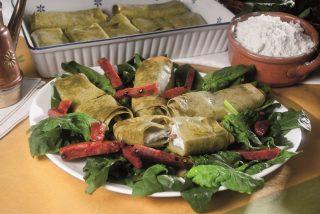 Cannelloni verdi con salame e ricotta, primo piatto veloce e gustoso