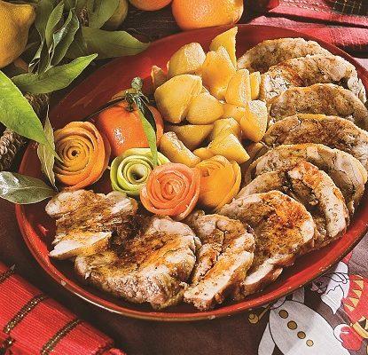 Cappone al forno con castagne e arancia, un secondo piatto natalizio succulento ed elaborato