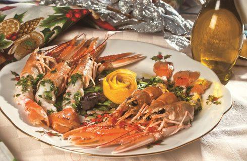 Cocktail di scampi imperiali con battuto di limone, un secondo di pesce veloce e elegante