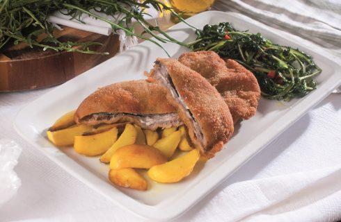 Cordon bleu con patate alla curcuma e cicoria, un secondo piatto per tutta la famiglia