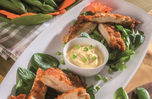 Cotolette di pollo con scamorza e salsa alla curcuma, un secondo piatto che piacerà a tutti