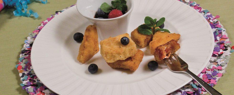Crema fritta con salsa di frutti rossi, un dolce veneto