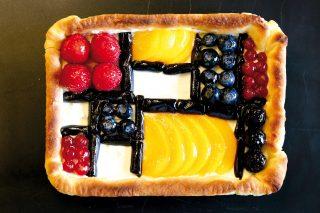 Crostata di Mondrian, un dolce colorato e fantasioso