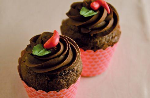 Cupcakes con cioccolato e peperoncino, dolce e piccante