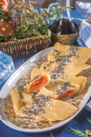 Fagottini di patate ripieni di zucca, un primo piatto autunnale