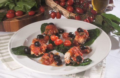 Filetto di maccarello con olive e capperi, un secondo di pesce leggero e saporito