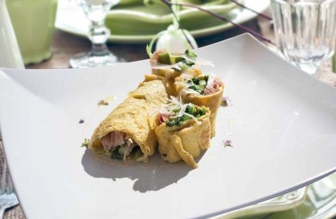 Girelle di uova con verdure, primo piatto veloce e gustoso