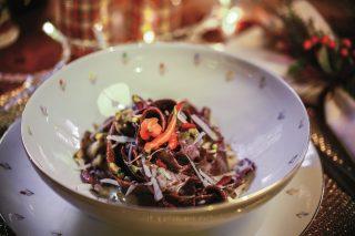 Pappardelle al cacao con gorgonzola, un dolce primo per le feste