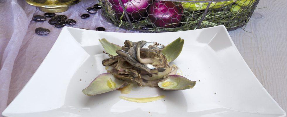 Parmigiana di alici, provola e carciofi, un gustoso piatto unico invernale